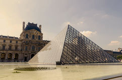 Louvre pyramid Stock Images