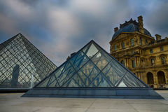 Louvre Pyramids Royalty Free Stock Photography