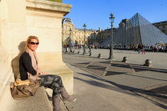 Louvre relaxation Royalty Free Stock Photo