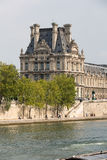 The Louvre and  the Seine River in Paris Stock Images