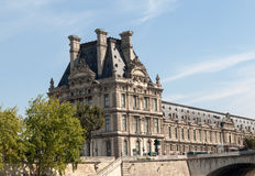 The Louvre and  the Seine River in Paris Royalty Free Stock Images