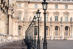 Louvre street light Stock Image