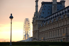 Louvre in Sunset royalty free stock photos