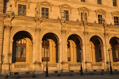 Louvre at the sunset Royalty Free Stock Photography