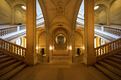 Louvre symmetry. Symmetry inside the louvre museum, Paris Royalty Free Stock Photos