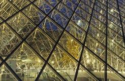 Louvre szkła dachu zakończenie up zdjęcie stock
