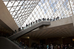 Louvre tourists' Stock Photos