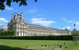 Louvre from Tuileries Garden in Paris, France Stock Photos