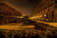 Louvre and Tuileries at night Stock Photography