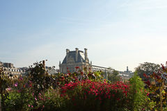 The Louvre and Tuilleries Gardens Royalty Free Stock Photography