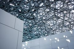 Louvre van Abu Dhabi stock fotografie
