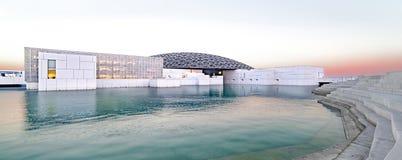 Louvre, vue panoramique, Abu Dhabi, émirats, décembre 2017 photos stock