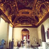 Louvre Wśrodku galerii zdjęcia stock