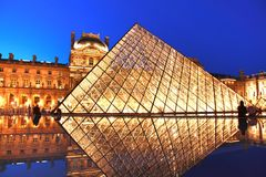The Louvre is the world's largest museum and a historic monument located on the center of city. Paris , France : june 20 ,2017 : The Louvre is the world's stock photo