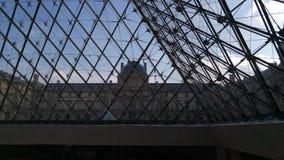 Louvreentrence royalty-vrije stock foto's