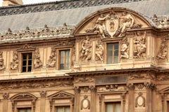 Louvreerrichten Stockfoto