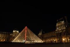 Louvremuseum i Paris av franska Royaltyfri Fotografi