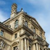 Louvremuseum in Parijs stock foto's