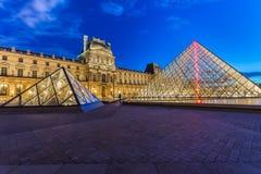 Louvremuseum in Parijs royalty-vrije stock fotografie