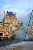 Louvremuseum in Paris Stockfotografie