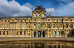 Louvremuseumshof - Paris Frankreich Stockbilder