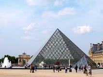 Louvrepaleis in Parijs, Frankrijk Stock Foto