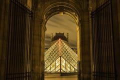 Louvrepiramide Royalty-vrije Stock Foto's
