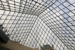 Louvrepyramid - Paris Royaltyfria Foton