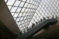 Louvrepyramid - Paris Royaltyfri Fotografi