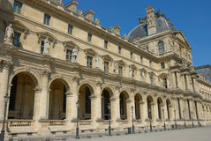 Louvres museum, paris royalty free stock images