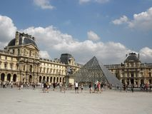 Louvrevierkant stock afbeelding
