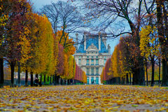 Louvreweg Royalty-vrije Stock Fotografie