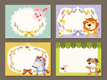 Lovable diverse animals memo paper Stock Images