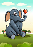 Lovable elephant sit Royalty Free Stock Photo