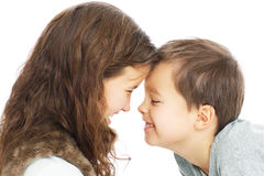 Lovable siblings Stock Photos
