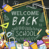 Lovable welcome back to school background Stock Image