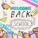 Lovable welcome back to school background Stock Photo