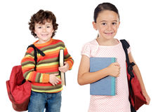 Lovables students childrens Stock Photo