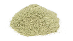 Lovage Powder over white Royalty Free Stock Images