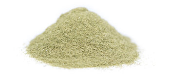 Lovage Powder over white Stock Photography