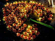 Lovande Diwali diyas Royaltyfria Bilder