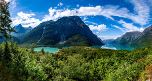 Lovatnet lake Beautiful Nature Norway. Stock Photography