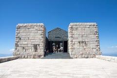 Lovcen陵墓,黑山 库存照片