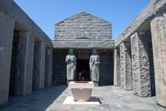 Мавзолей Lovcen, Черногория Стоковые Фотографии RF