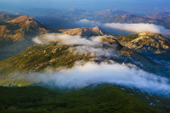 Lovcen bergnationalpark på solnedgången - Montenegro Arkivfoton