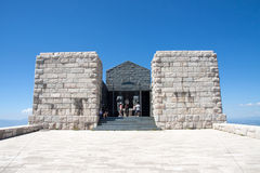 Lovcen Mausoleum, Montenegro. JULY 23, 2013: It is the most important monument of the Lovcen National Park. It is located at the top of Mount Lovcen Stock Photo