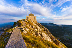 Lovcen Mountains National park at sunset - Montenegro Royalty Free Stock Image