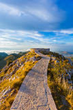 Lovcen Mountains National park at sunset - Montenegro Royalty Free Stock Images