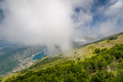 Lovcen national park. Mountain view on Boka Kotor Stock Photo