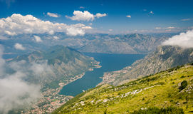 Lovcen national park. Mountain view on Boka Kotor Royalty Free Stock Photos